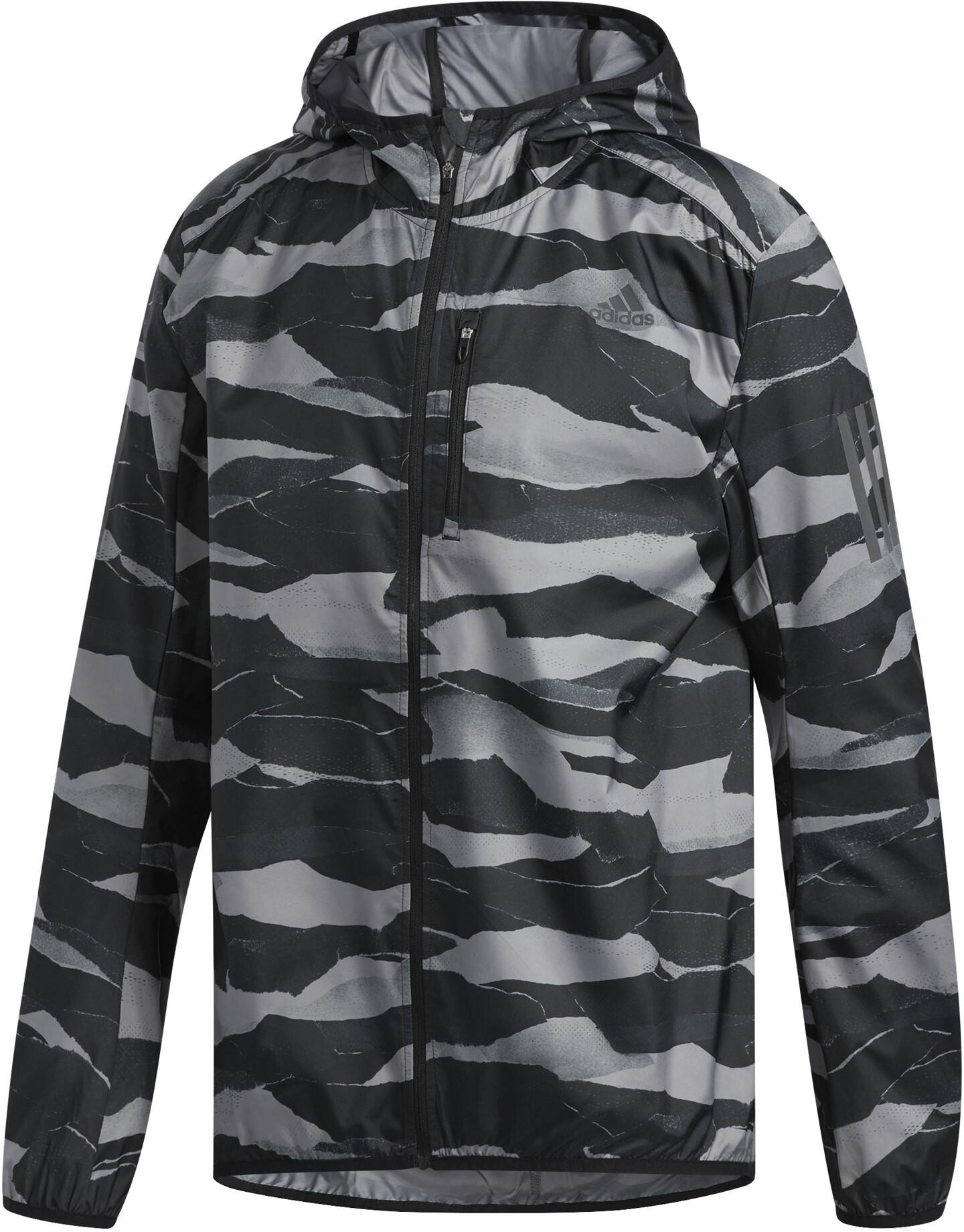 57bd7428b259 adidas Own The Run Running Jacket Men grey black at Bikester.co.uk